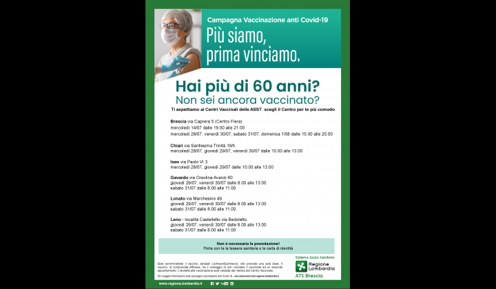 Campagna vaccinale OVER 60