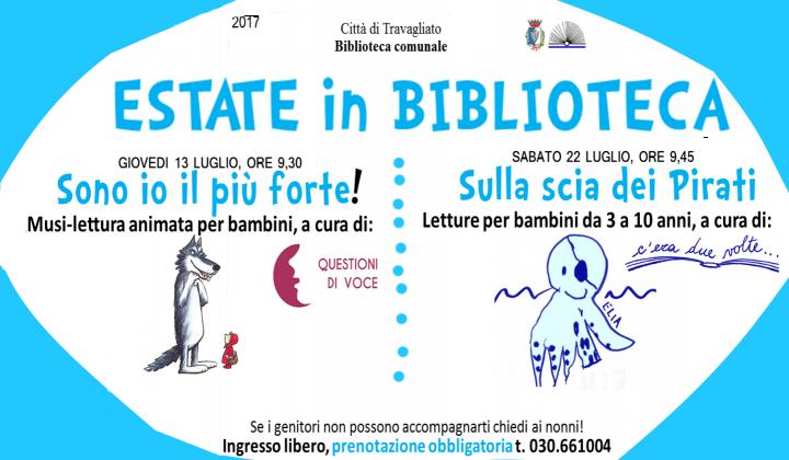 Locandina ESTATE IN BIBLIOTECA