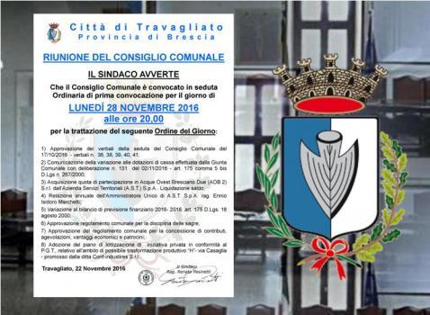 Consiglio Comunale del 28 Novembre 2016