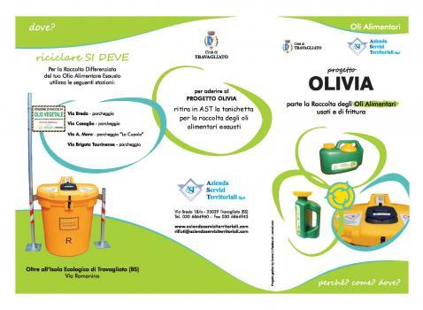 Progetto OLIVIA - Smaltimento oli alimentari