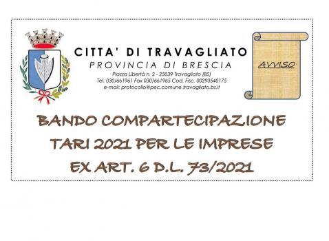 Bando compartecipazione TARI 2021